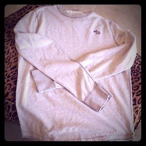 Abercrombie & Fitch Shirts - ABERCROMBIE sweatshirt grey L MUSCLE